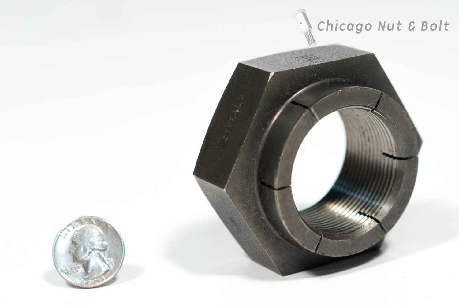Custom large diameter flex lock nut 1